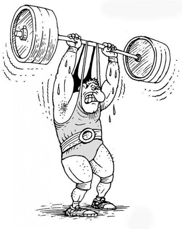 Рисованные смешные картинки про спорт